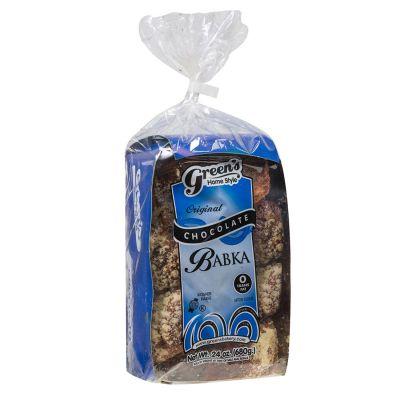 Traditional kosher Green's chocolate babka, 24 oz