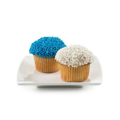 2 Dozen Mini Blue & White Hanukkah Cupcakes