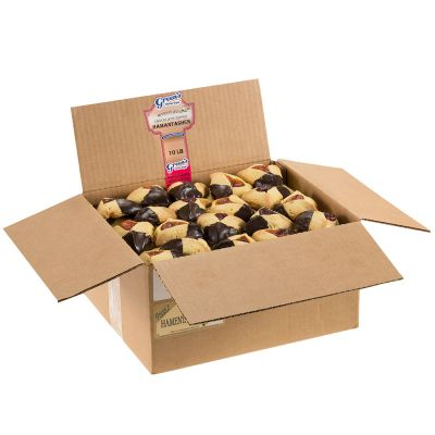 Chocolate-Dipped Hamantaschen (Assorted) - 10 Pound Box (135 Count)