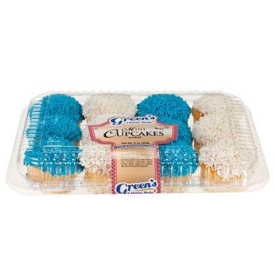 1 Dozen Mini Blue & White Hanukkah Cupcakes