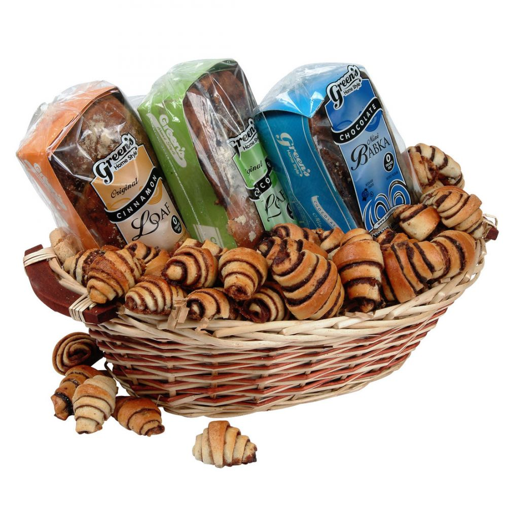 Traditional holiday babka gourmet kosher gift basket our babka lovers gift basket comes with one of greens fresh kosher certified 16 ounce mini chocolate babkas one chocolate loaf one cinnamon loaf negle Gallery