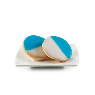 Mini Blue & White Hand Dipped Shortbread Hanukkah Cookies