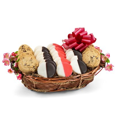 Holiday Greetings Cookie Gift Basket - Red