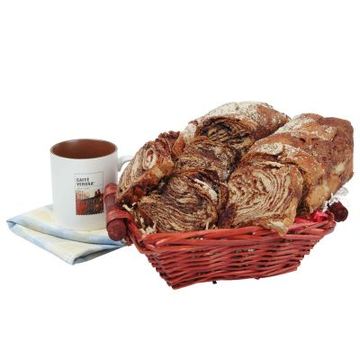 Ideal Breakfast Chocolate Babka Gourmet Kosher Gift Basket