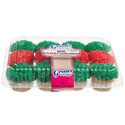 2 Dozen Mini Holiday Red & Green Cupcakes