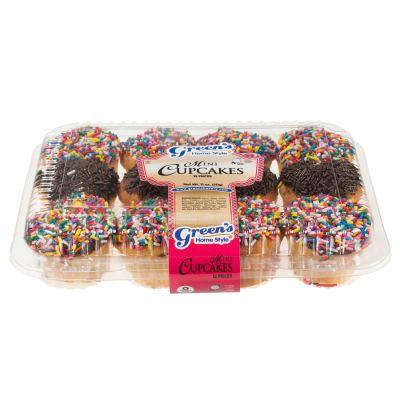 2 Dozen Mini Cupcakes With Sprinkles
