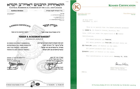 Green's Kosher Certificate